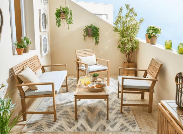 muebles para jardin serie solis de leroy merlin