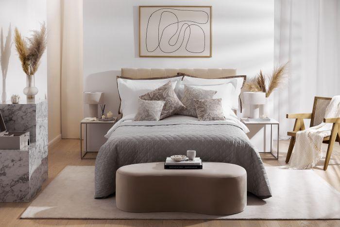 Dormitorio con cuadro en la pared de Westwing