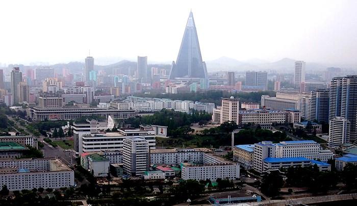 Hotel Ryugyong vista aérea