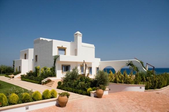 casa blanca estilo ibicenco exterior fachada