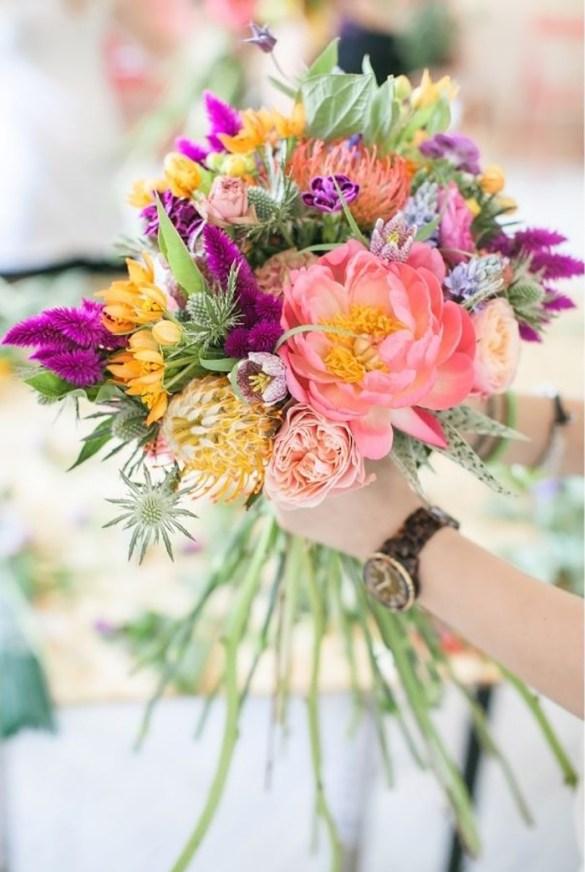 ramo flores colorido