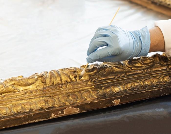 marco dorado restauracion thyssen