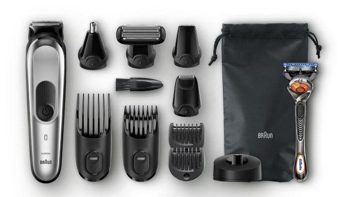 kit de afeitadora para hombre Braun