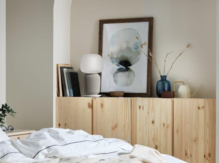 Lámpara de mesa con altavoz Ikea
