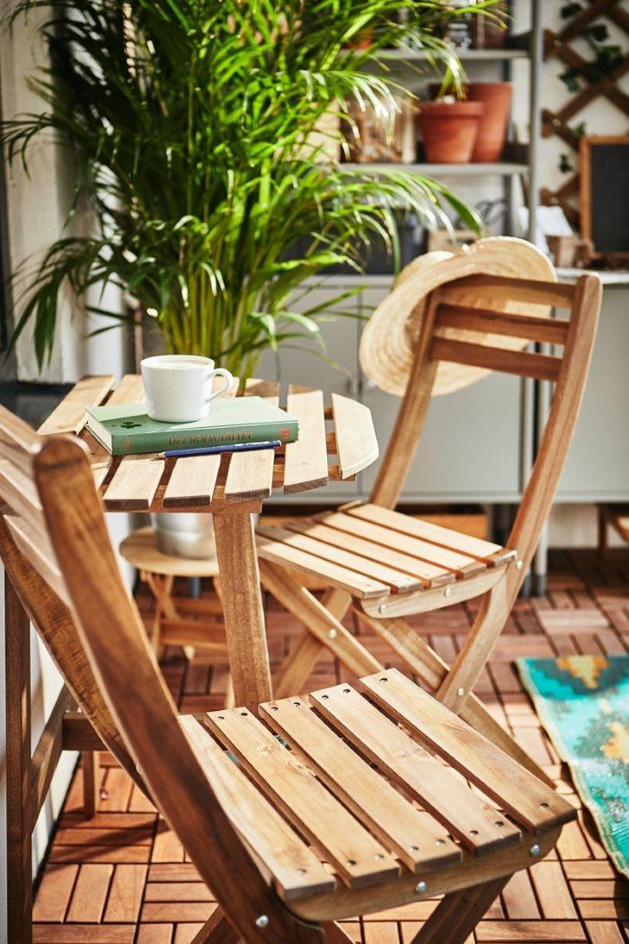 Silla para jardín de madera de IKEA