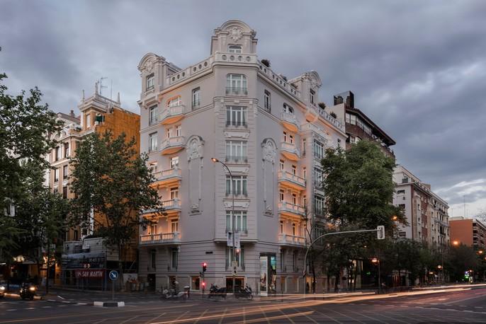 fachada exterior del hotel Heritage Madrid