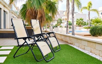 hamacas sillas en jardin