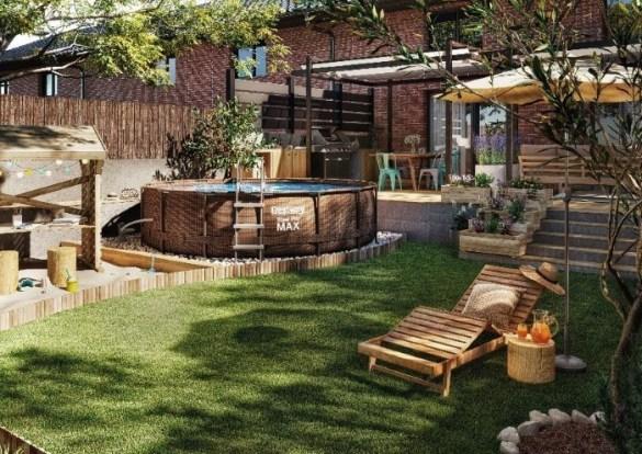 Una piscina en tu jardín con Leroy Merlín