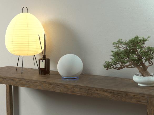 Dispositivo-Amazon-Echo-LIfestyle en la entrada de un hogar