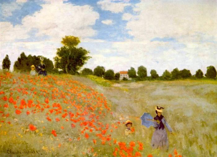 Obra pictórica Las amapolas de Monet