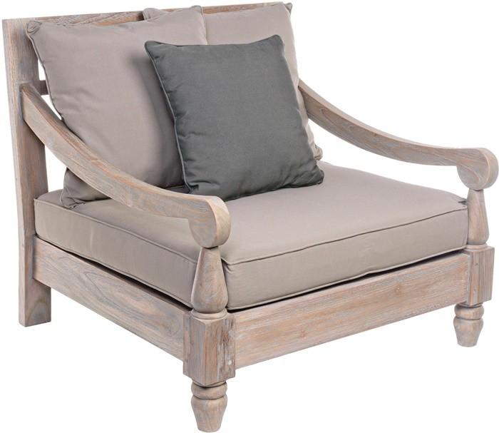 madera sillon beige gris cojin