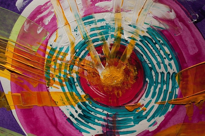 colores circulos pintura