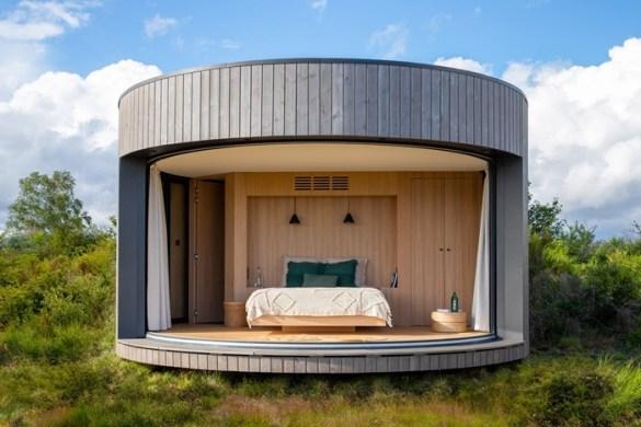 casa pequeña mini habitacion circular