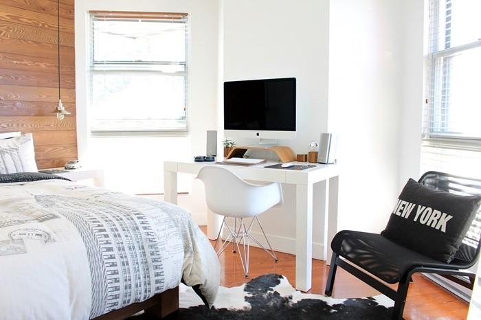 silla cama escritorio ordenador ventana