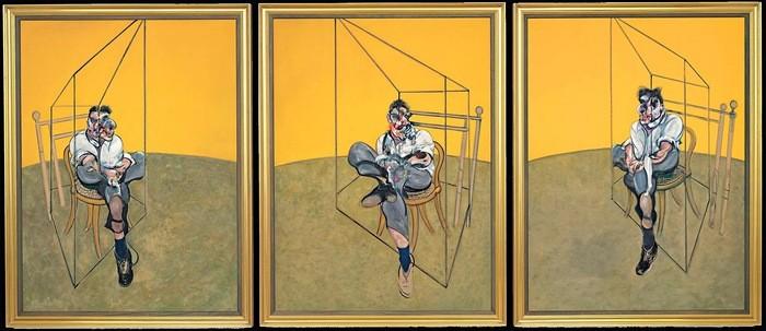 Obra pictórica Los tres estudios de Lucian Freud de Francis Bacon