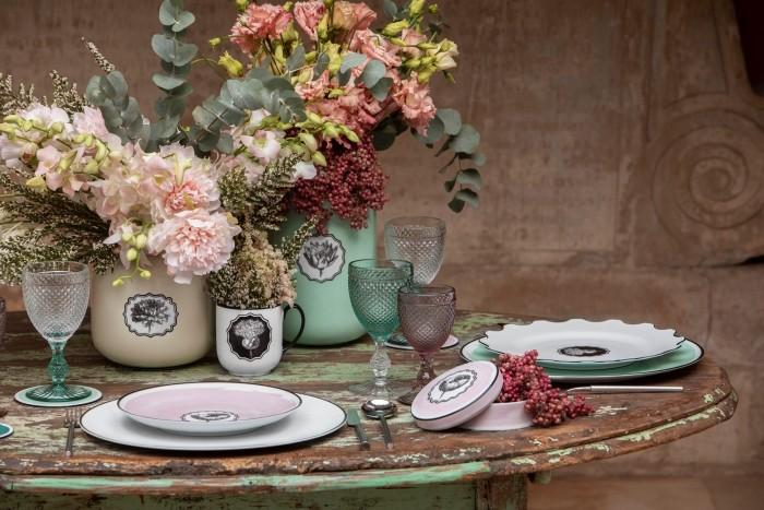 decoracion mesa flores