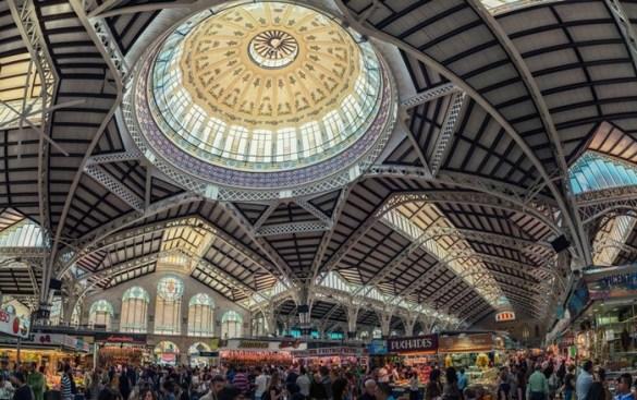 cupula interior vidrieras mercado