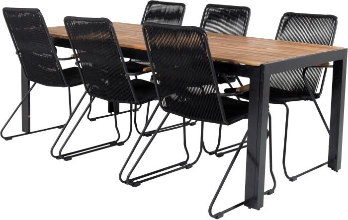 mesa sillas negras