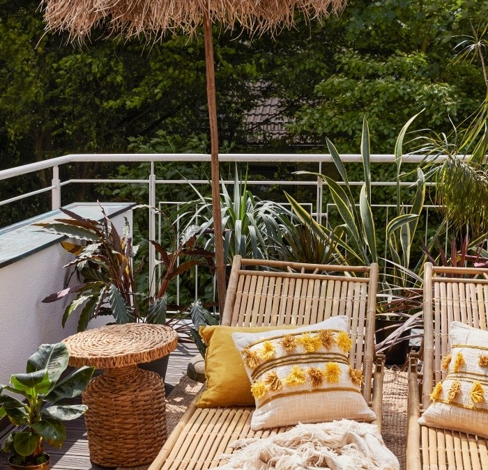 Cómo decorar la terraza o jardín como un hotel del Caribe