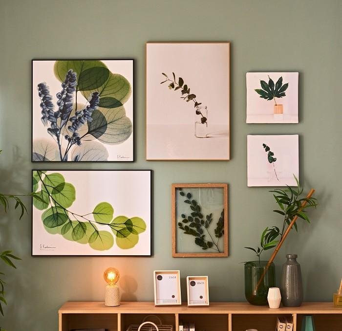 Decoracion-de-paredes-con-cuadros de Leroy Merlin