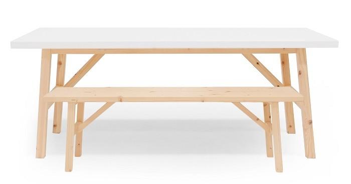 Mesa y banco en madera de Decowood