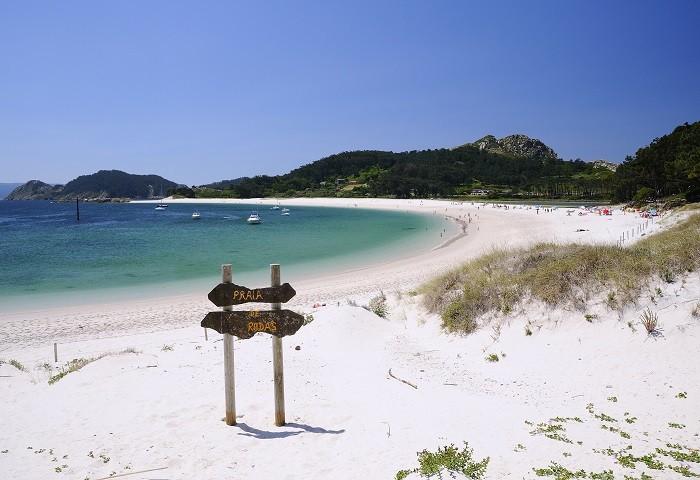 Playa-de-Rodas-en-las-Islas-Cies Lugar de vacaciones