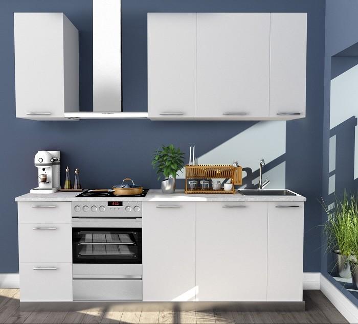 Cocina de Leroy Merlin con azulejo sencillo