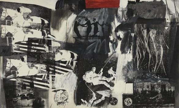 obra collage serigrafia