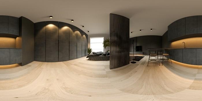 La arquitectura 360 grados ofrece hasta vista panorámica del proyecto