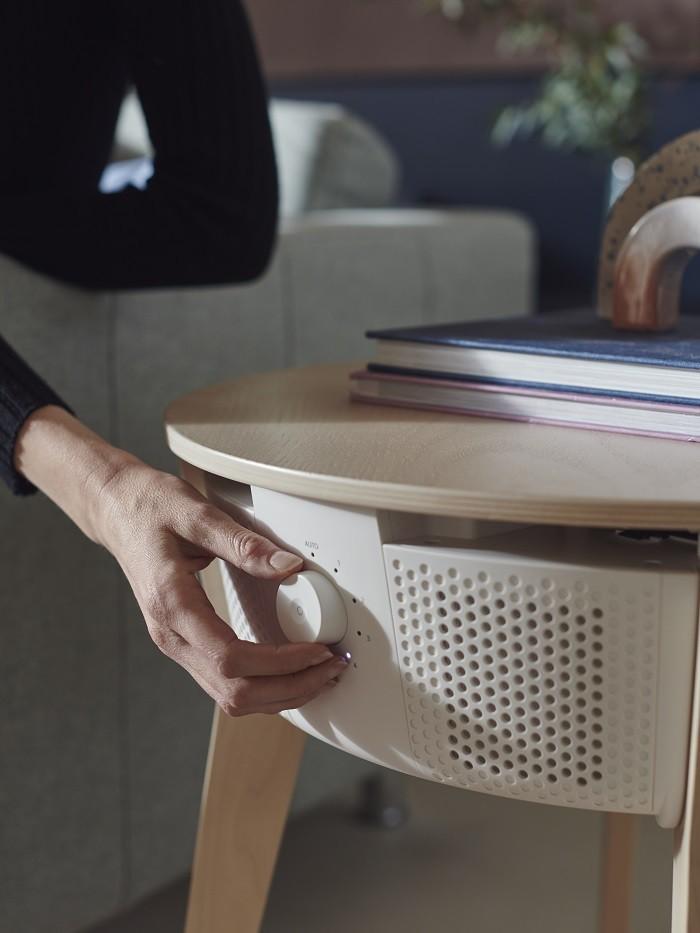 ruleta para nivel de velocidad del purificador de aire blanco de Ikea