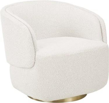 sillon redondo blanco suave
