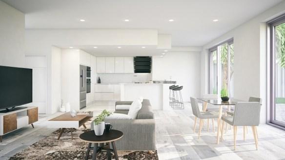 Interior de una moderna casa de lujo