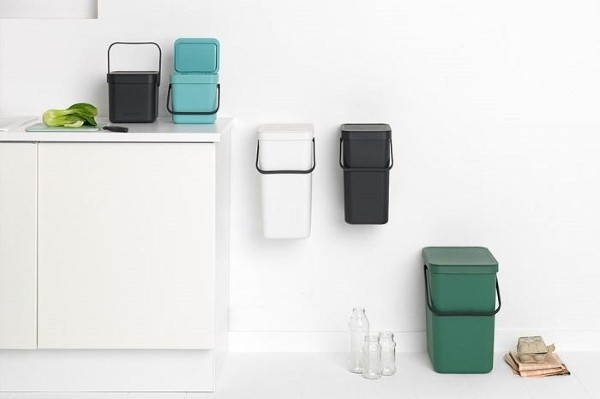 papeleras colores reciclaje
