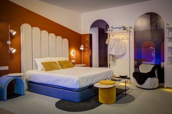 dormitorio de diseño de interihotel