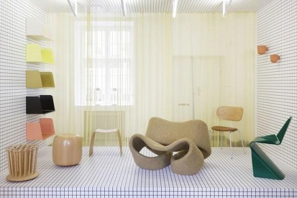 Amplio salón de diseño