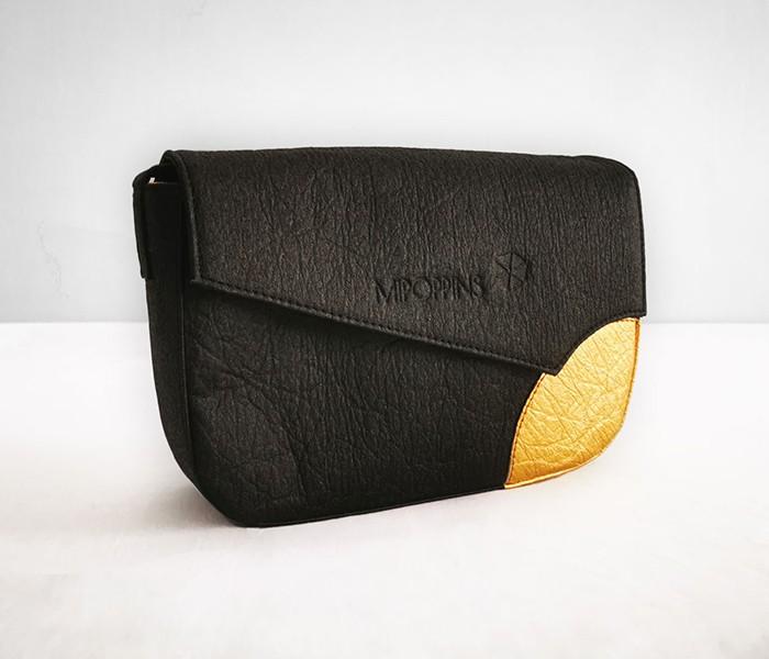 bandolera negra diseño