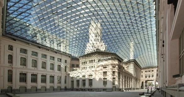 boveda cristales estructura edificio