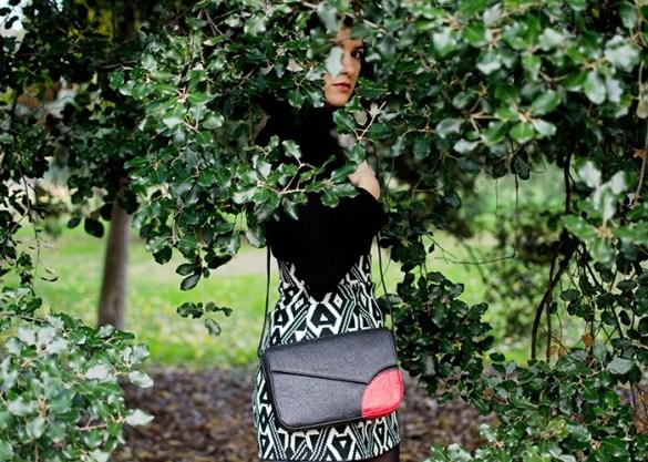 bandolera negra ecologica