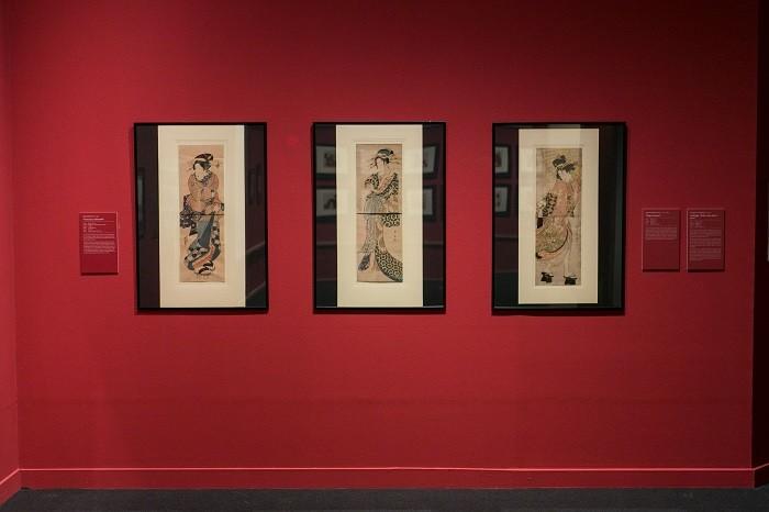 cuadros de la exposición de la cultura japonesa en Madrid