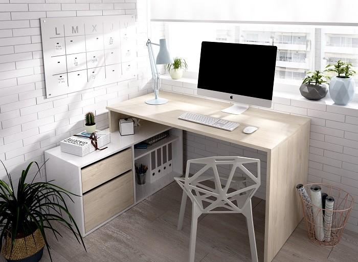 zona de escritorio para el teletrabajo con Leroy Merlin