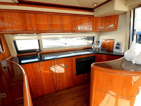 Sunseeker Yacht Interior Before Wrapping