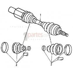 Semieje (palier tripoide) derecho (copiloto) Dodge