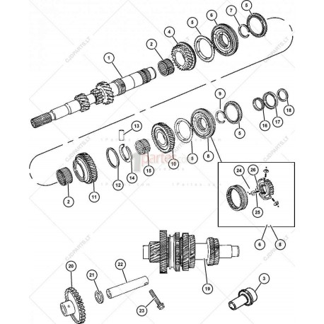 Sincronizador de 3ra y 4ta|Dodge|Caliber|Jeep|Compass