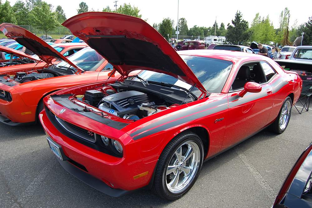 New Dodge Challengers At The 2013 Mopars Unlimited Spring