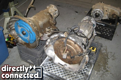 small resolution of above left various parts were collected including the cherokee donor transmission transmission control unit cherokee electrical connections