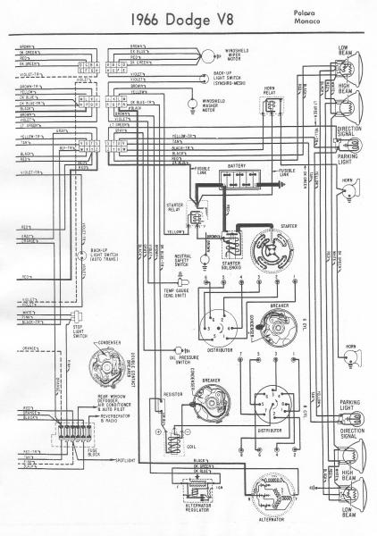 1966 dodge ignition wiring diagram