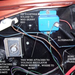1973 Dodge Charger Ignition Wiring Diagram Bmw Diagrams E60 Msd And Voltage Regulator - Mopar Forums