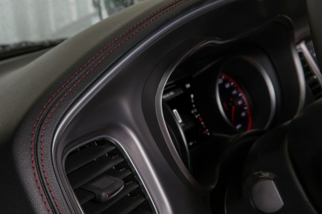 2019 Dodge Charger R/T Scat Pack with all-new premium stitched dash and door uppers. (Dodge).