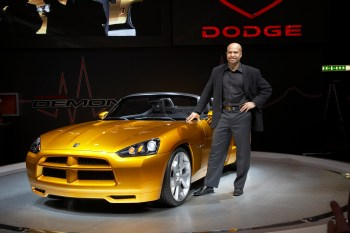 Ralph Gilles and the 2007 Dodge Demon Concept. (Dodge)