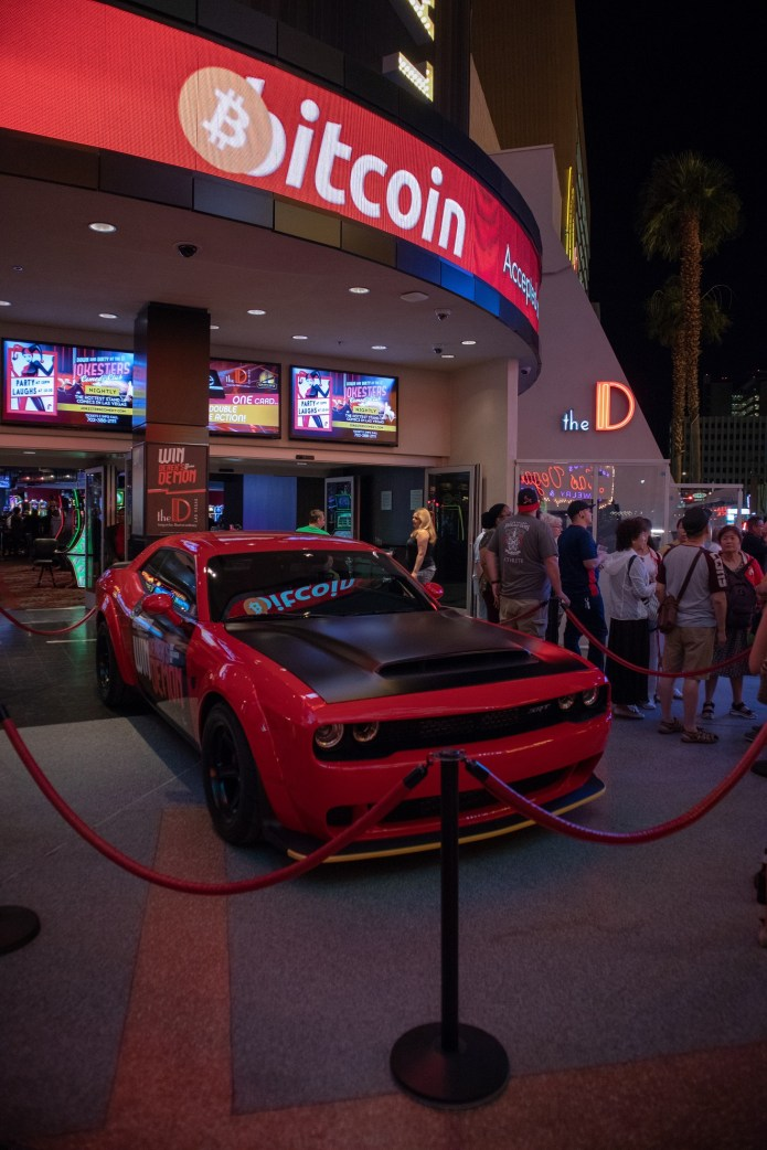 """Win Derek's 2018 Dodge Demon"" at The D Casino in Las Vegas. (MoparInsiders)"